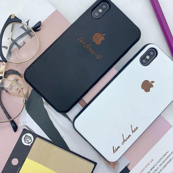 디컨셉 아이폰 XS X XR MAX 6 7 8 plus 갤럭시 s10 5G s8 s9 plus 노트 9 8 커플 레터링 주문제작 우드케이스