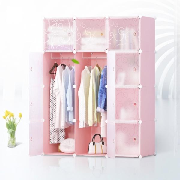 DIY  핑크하우스 선반 옷장(3열8칸)/서랍장 수납장