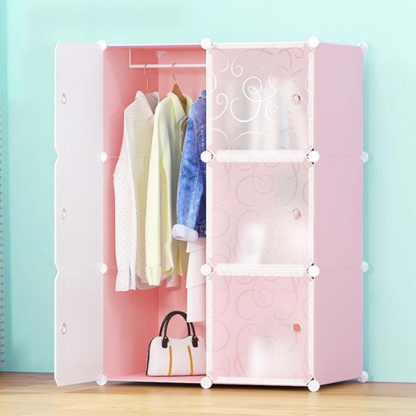 DIY  핑크하우스 선반 옷장(2열4칸)/서랍장 수납장