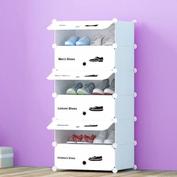 화이트 슈즈 도어형 신발장(6단)/신발정리함 신발수납