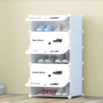 화이트 슈즈 도어형 신발장(5단)/신발정리함 신발수납