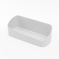 리빙홈 일자 욕실 선반(화이트)