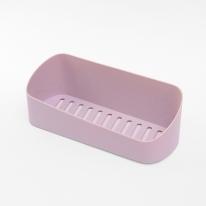 리빙홈 일자 욕실 선반(핑크)