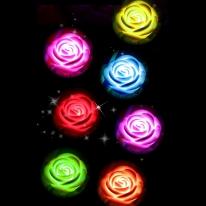 7color 장미꽃 무드등