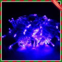 NEW 100구 투명선 LED 남색전구(8M) (점멸有) (연결가능) (150cm∼500cm트리용)