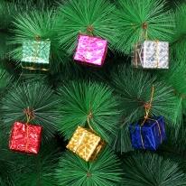 6p 선물상자장식(4cm) 크리스마스트리 장식재료