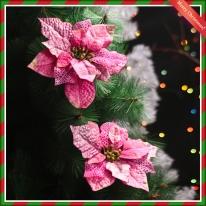 2p 크리스마스 포인세티아(핑크) (大) 꽃장식