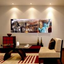 뉴욕시티 병풍 벽시계(120x40cm)