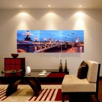 파리야경 병풍 벽시계(120x40cm)