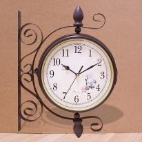 앤틱 양면 벽시계(고정식)