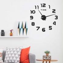 DIY 무소음 블랙 숫자 벽시계