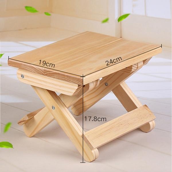 원목 접이식 간이 의자