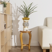 대나무원목 원형 선반 겸 의자(44cm)