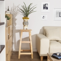 70cm 원목 사각 선반 겸 의자