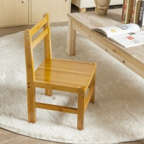사각 원목 등받이 의자