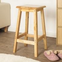 60cm 원목 사각 선반 겸 의자