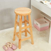 80cm 원목 원형 선반 겸 의자