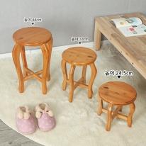 대나무원목 원형 선반 겸 의자(24.5cm)