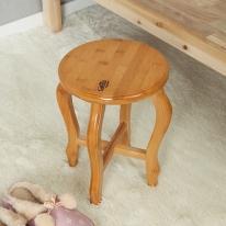 대나무원목 원형 선반 겸 의자(33cm)