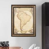 앤틱 MAP 인테리어 액자(남아메리카)