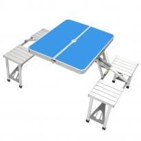 4인용 의자 일체형 접이식 캠핑테이블 (3color)