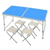 4인용 접이식 캠핑테이블 의자세트 (3color)