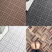 래티스 우드 패턴 코일매트 (현관/베란다/발코니/세탁실 매트)