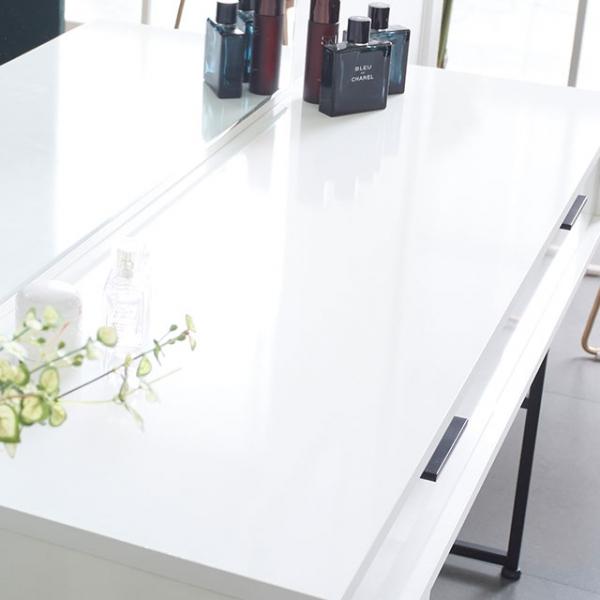 철제 확장형 멀티 수납형 입식 화장대 (3color)