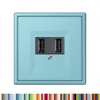 융 JUNG LS990 LC 유럽형 USB Charger 소켓 1구 2구 르 꼬르뷔제(Le Corbusier 63color)