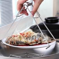 [쿠킹스]스텐 접시 냄비집게(18.5*8.5cm)/주방집게