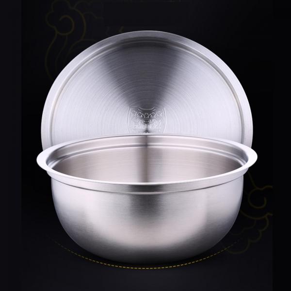 [쿠킹스]뚜껑 스텐 믹싱볼(21*9.5cm)/스텐볼 주방용품
