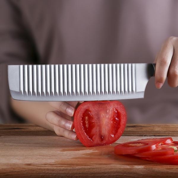 [쿠킹스]쉐프 사각 스텐 주방칼/양각무늬 주방용 식칼