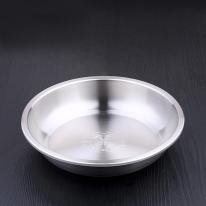 [쿠킹스]원형 스텐 그릇(20cm)/야외 오토캠핑장 식기