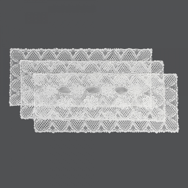 프렌치 레이스 테이블러너 3p(꽃무늬)/식탁 러너 매트