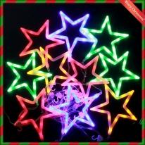 LED 화이트별 칼라전구150구 투명선 (2.7M) (점멸有)