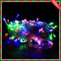 100구 LED 칼라트리전구(8M) (점멸有)
