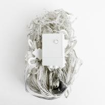 150구 투명선 LED 고드름 백색전구(3M)(점멸有)