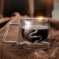 썸데이 이중유리 커피잔/홍차 찻잔 유리잔 투명잔