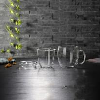 [로하티]글로리아 티머그 유리잔 500ml/ 내열 머그컵