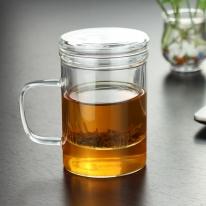 [로하티]루나 티머그 유리잔(400ml)/찻잔 유리머그