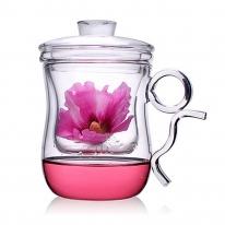 [로하티]마리안느 티머그 유리잔(400ml)/찻잔 유리컵