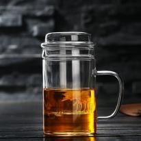 다이브 티머그 유리잔(400ml)/머그컵 차거름망 주스컵
