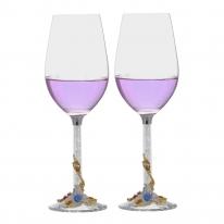 [플로이]릴리 와인잔 2p(블루)/350ml 선물용 유리잔