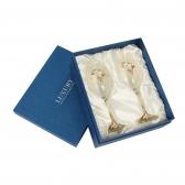 [플로이]엔틱 와인잔 2p(옐로우)/350ml 선물용 유리잔