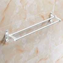 2단 수건걸이(실버)(38x9cm)/인테리어 욕실걸이