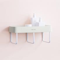 무핀 수건걸이 욕실선반/ 접착식 화장실선반