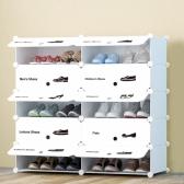 화이트 슈즈 도어형 신발장(2열5단)/신발정리함