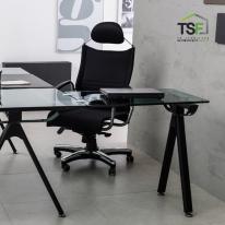 TS-11 전용 사이드책상(유리전용) 일자형 철제책상