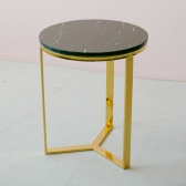 TS 에일린 원형 골드 테이블 L