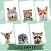 아기방 동물포스터 무광 유아포스터 정글숲 6장세트 A4사이즈